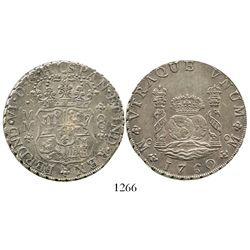 Mexico City, Mexico, pillar 8 reales, Ferdinand VI, 1760MM. KM-104.2; CT-346. 26.7 grams. Well-struc