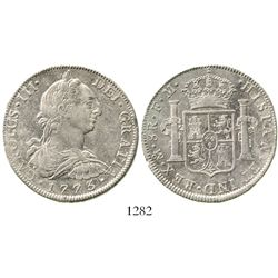 Mexico City, Mexico, bust 8 reales, Charles III, 1773FM, initials upright. KM-106.2; CT-918. 26.8 gr