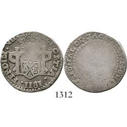 Zacatecas, Mexico, 2 reales, Ferdinand VII, 1811, flowers-and-castles variety. CT-1062; KM-186. 6.5