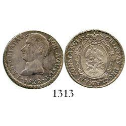 Chiapas, Mexico (Empire), 1-real proclamation, 1822, Iturbide. Grove-23a. 3.3 grams. AXF with nice r