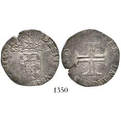 Lisbon, Portugal, tostao, Sebastian I (1557-78), large cross, no ring around cross. Gomes-24.07. 7.9