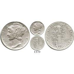 USA (Philadelphia mint), Mercury dime, 1942/41, rare. KM-140. 2.5 grams. Solid VF+, no problems, wit