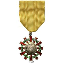 """Ecuador, silver """"medal of merit"""" (1900s) inside enameled-brass decoration, made for the government o"""