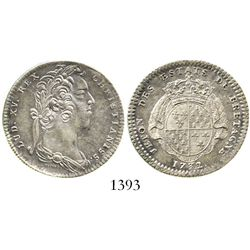France (States of Brittany), silver jeton, Louis XV, 1732.  6.5 grams. Choice XF with lovely rainbow