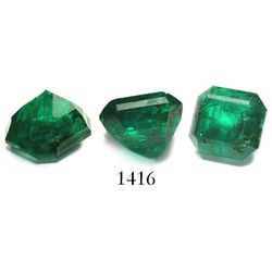 High-grade emerald, size 3.12 carats, square-cut in modern times from a large natural piece (Atocha)