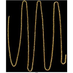 """Long, gold """"olive blossom"""" (or """"dragon whistle"""") chain, 56"""", 83 grams.   One of the better-known sto"""