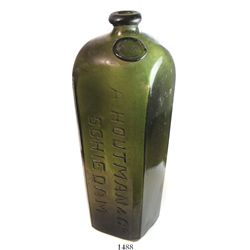 """Dutch """"case gin"""" bottle with AH seal (Houtman) at top and A.HOUTMAN & CO. / SCHIEDAM on sides (early"""