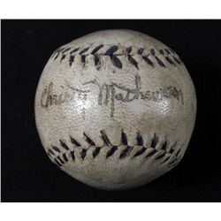CHRISTY MATHEWSON SIGNED BASEBALL W/ COA