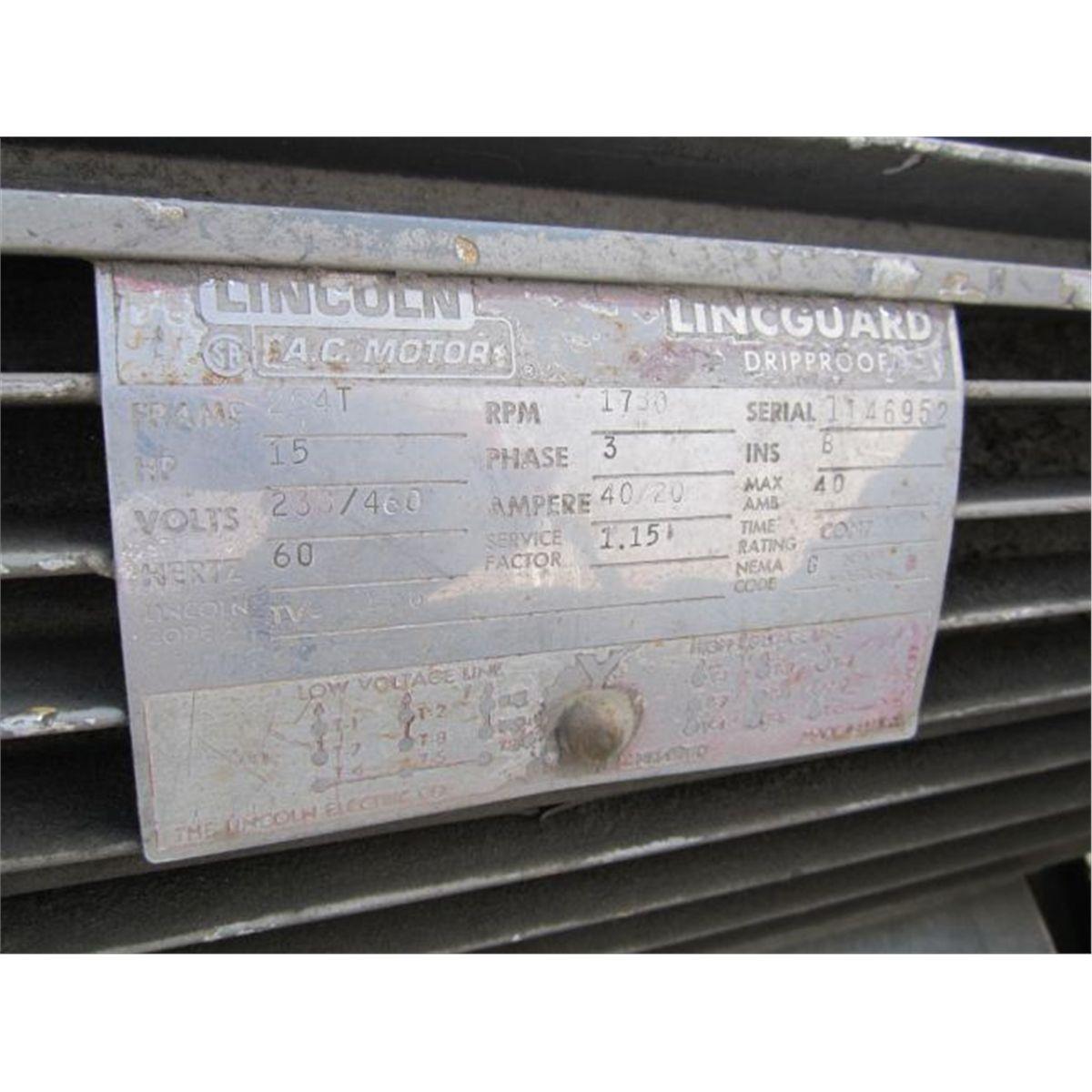 Worthington Horizontal 125 PSI Air Compressor