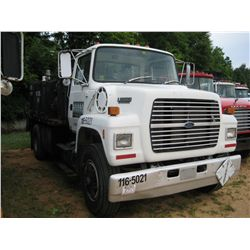 1991 FORD L8000 S/A FUEL & LUBE TRUCK