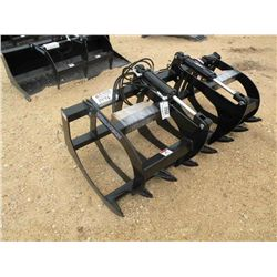 (UNUSED) HYDRAULIC GRAPPLE RACK FOR SKID STEE