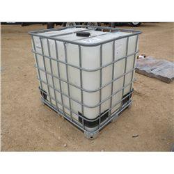 250 GAL PLASTIC TANK W/METAL FRAME