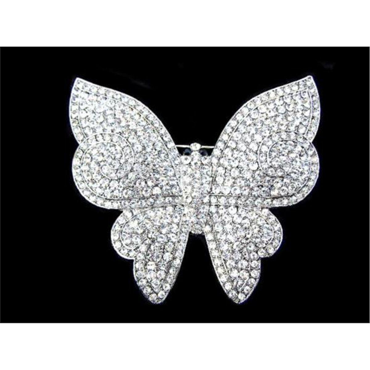 Swarovski Crystal Butterfly Brooch Pin