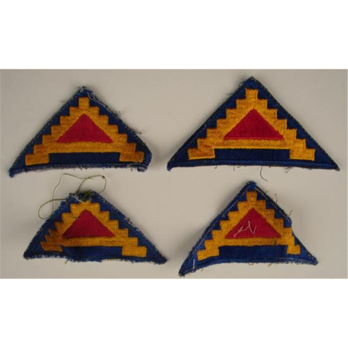 4 Pc Lot WWII Cut Edge U S  7th Army Patches Military