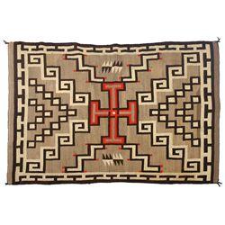 Navajo Ganado Weaving, 76 x 51, 1920s