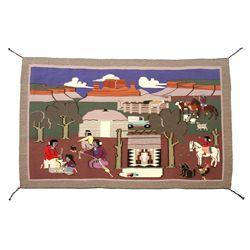 Navajo Pictorial Weaving, Sarah Tso, 54 x 34