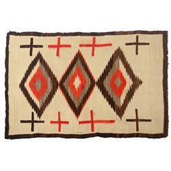 Navajo Ganado Weaving, 77 x 51, circa 1910-1920