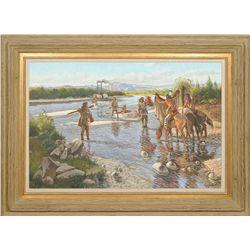 Roy Lee Ward, oil on canvas