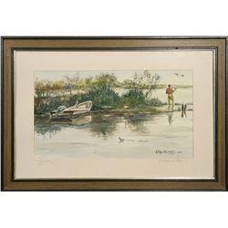 Wiley Churchill, watercolor
