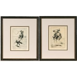 William Gollings, two etchings