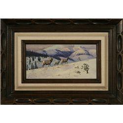 Elmer Schock, oil on canvas