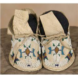Cheyenne Baby Moccasins, 19th century