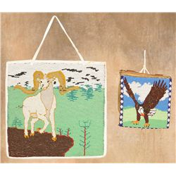Two Plateau Pictorial Bags, mid 1900s