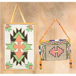 Two Plateau Beaded Bags