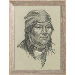 Ned Jacob, charcoal