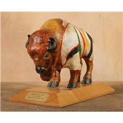 Robert Morgan, painted fiberglass buffalo