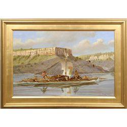 Robert F. Morgan, oil on canvas