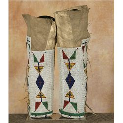 Sioux Beaded Leggings, 19th century