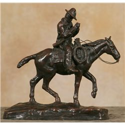 Charles M. Russell, bronze cast by Nelli Art Bronze Works