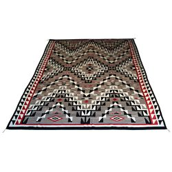 Huge Navajo Ganado Weaving, 208 x 125, 1940s-50s