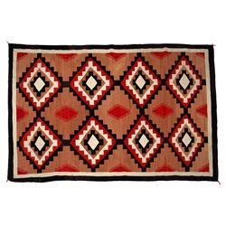 Navajo Ganado Weaving, 86 x 57, circa 1930