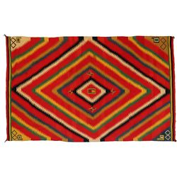 Germantown Eye Dazzler Weaving, 96 x 60, mid-1900s
