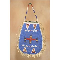 Sioux Beaded Pouch, 19th century