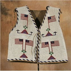 Sioux Pictorial Beaded Vest, 19th century