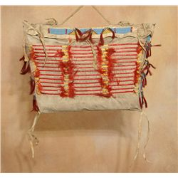 Sioux Quilled Possible Bag, 19th century