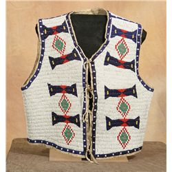 Sioux Fully Beaded Vest, 19th century