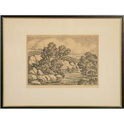 Birger Sandzen, lithograph