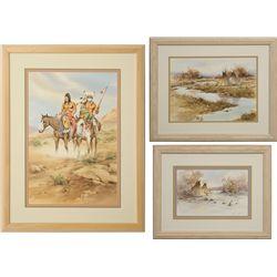 Howard Rees, group of three watercolors
