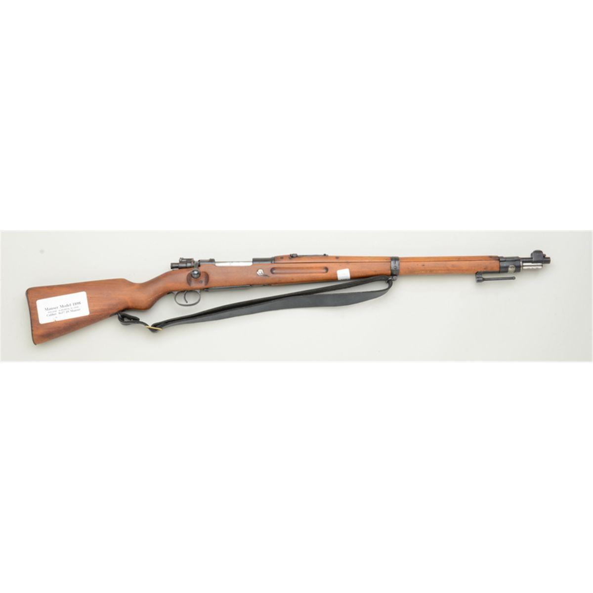 Polish Mauser Model 98 bolt-action military rifle, 8mm cal , 24