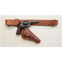 "German Arminius DA revolver, .32 S&W Long  cal., 4"" barrel, black finish, checkered  maroon plastic"