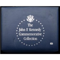 Fantastic John F. Kennedy collection in  plastic covered carry case including  Commemorative coins a