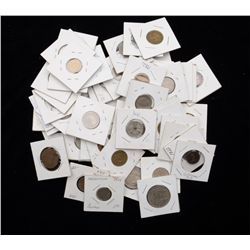 Great collection of approx. 75 + pieces of  foreign coins dated primarily from  1960s-1980s, misc. d