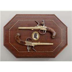 United States Historical Society cased pair  of modern copies of the Thomas Jefferson  flintlock scr