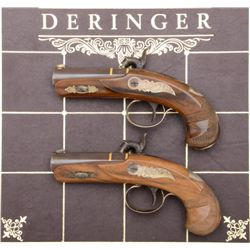U.S. Historical Society pair of modern copies  of the famous Henry Deringer contained in a  leather