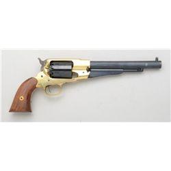 Italian-made reproduction Model 1858 single  action percussion revolver, .44 caliber  blackpowder, 8