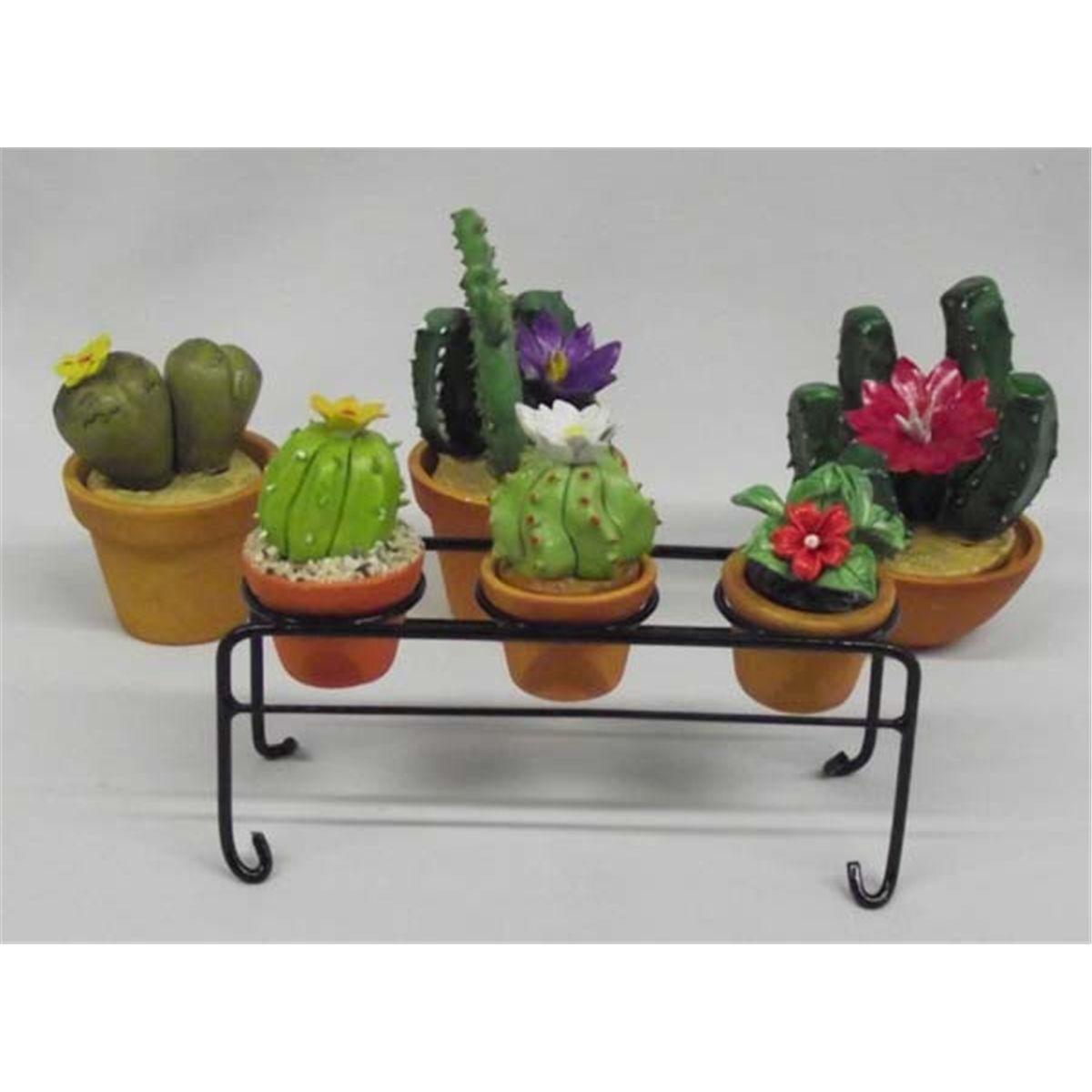 225 & Miniature Decorative Clay Flower Pots With Plants